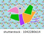 abstract pattern for decoration.... | Shutterstock .eps vector #1042280614