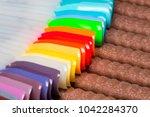 nail polish. gel polish. nail... | Shutterstock . vector #1042284370