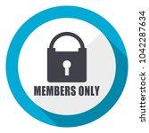 members only blue flat design... | Shutterstock . vector #1042287634