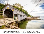 A Covered Wooden Bridge In St....