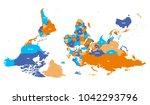 reversed or upside down... | Shutterstock .eps vector #1042293796