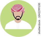emirate man icon   arab man icon | Shutterstock .eps vector #1042299130