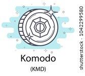 white komodo cryptocurrency... | Shutterstock .eps vector #1042299580