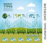 energy types ecological | Shutterstock .eps vector #1042301248