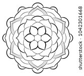 contour mandala for color book. ... | Shutterstock . vector #1042301668