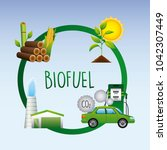 biofuel ecology alternative | Shutterstock .eps vector #1042307449