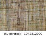 pure linen texture. linen cloth ...   Shutterstock . vector #1042312000