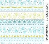 vectorblue green tribal... | Shutterstock .eps vector #1042312693