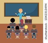 school teacher design | Shutterstock .eps vector #1042313494