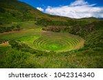 inca terraces of moray  peru....   Shutterstock . vector #1042314340