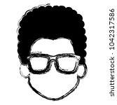 young man head with glasses... | Shutterstock .eps vector #1042317586