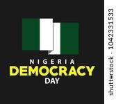 democracy day nigeria vector... | Shutterstock .eps vector #1042331533