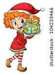 illustration of a christmas elf | Shutterstock .eps vector #104233466