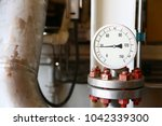 pressure gauge using measure... | Shutterstock . vector #1042339300