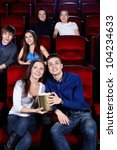 young people at the cinema | Shutterstock . vector #104234633