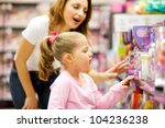 mother and daughter shopping... | Shutterstock . vector #104236238
