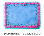 blank cake   add your own... | Shutterstock . vector #1042364170