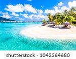 bora bora island  french... | Shutterstock . vector #1042364680