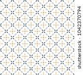 retro geometric pattern in...   Shutterstock . vector #1042370794