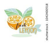 label vector design of slice... | Shutterstock .eps vector #1042400518