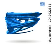 blue brush stroke and texture.... | Shutterstock .eps vector #1042422556