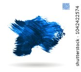 blue brush stroke and texture.... | Shutterstock .eps vector #1042422574