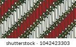 batik ornament of indonesia... | Shutterstock .eps vector #1042423303