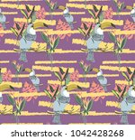 exotic colorful pattern with... | Shutterstock .eps vector #1042428268