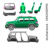 car service parts flat auto... | Shutterstock .eps vector #1042430950