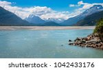 dart river view with snow... | Shutterstock . vector #1042433176