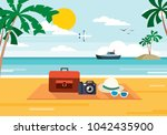cool summer background | Shutterstock .eps vector #1042435900