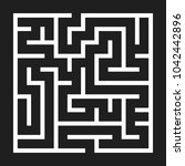 maze game background. labyrinth ... | Shutterstock . vector #1042442896