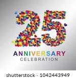 25th anniversary design... | Shutterstock .eps vector #1042443949