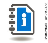 user guide book icon vector.... | Shutterstock .eps vector #1042450570