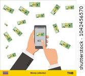 mobile banking concept.  thai...   Shutterstock .eps vector #1042456570