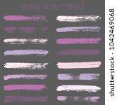 modern watercolor daubs set ... | Shutterstock .eps vector #1042469068