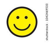 smile icon. happy face symbol.... | Shutterstock .eps vector #1042469533