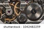 clockwork old mechanical watch  ... | Shutterstock . vector #1042482259