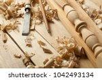 carpentry concept.joiner... | Shutterstock . vector #1042493134