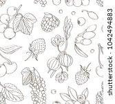 berries set pattern | Shutterstock .eps vector #1042494883
