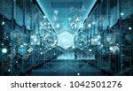 modern digital graph holograms... | Shutterstock . vector #1042501276
