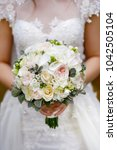 a wedding bouquet of light...   Shutterstock . vector #1042505104