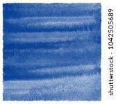navy blue watercolor texture... | Shutterstock . vector #1042505689
