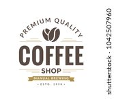 coffee design logo template | Shutterstock .eps vector #1042507960