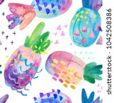 funny colorful decorative... | Shutterstock . vector #1042508386