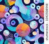 artistic seamless pattern ... | Shutterstock . vector #1042508548