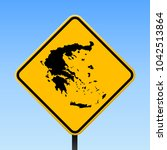 greece map road sign. square... | Shutterstock .eps vector #1042513864