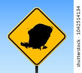 lombok map road sign. square... | Shutterstock .eps vector #1042514134