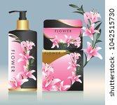 packaging cosmetic beauty...   Shutterstock .eps vector #1042515730