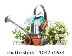 Gardening Tools And Flowers...